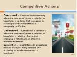 competitive actions