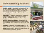 new retailing formats