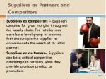 suppliers as partners and competitors