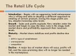 the retail life cycle