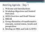 meeting agenda day 1