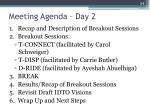 meeting agenda day 2
