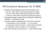 performance measures for d ride