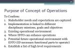 purpose of concept of operations