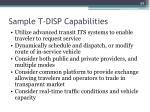 sample t disp capabilities