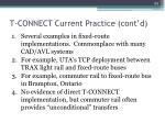 t connect current practice cont d