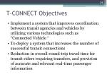 t connect objectives