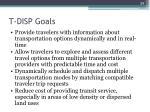 t disp goals