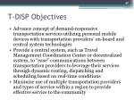 t disp objectives