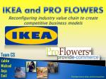 ikea and pro flowers reconfiguring industry value chain to create competitive business models