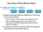 security of the block chain