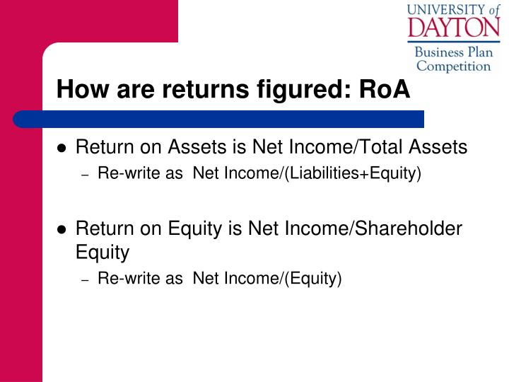 How are returns figured: RoA