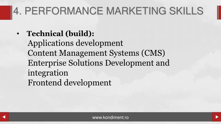 4. PERFORMANCE MARKETING SKILLS