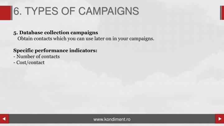 6. TYPES OF CAMPAIGNS