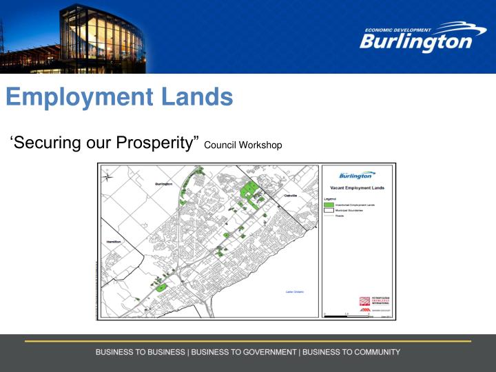employment lands securing our prosperity council workshop n.