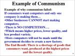 example of communism