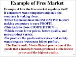 example of free market