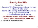 scarcity bus ride