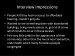 interview impressions