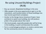 re using unused buildings project rub