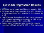 eu vs us regression results