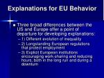 explanations for eu behavior