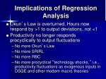 implications of regression analysis