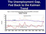 the unemployment gap fed back to the kalman trend