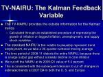 tv nairu the kalman feedback variable