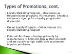 types of promotions cont2
