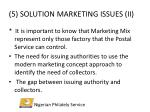 5 solution marketing issues ii