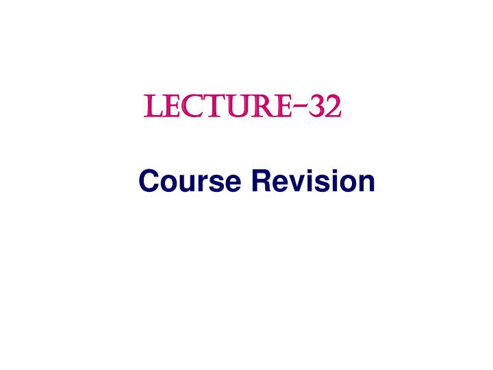 course revision n.