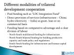 different modalities of trilateral development cooperation