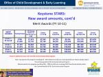 keystone stars new award amounts cont d