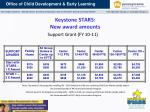 keystone stars new award amounts