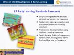 pa early learning standards resources