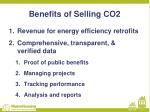 benefits of selling co2
