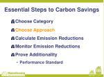 essential steps to carbon savings1