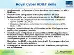 royal cyber rd t skills