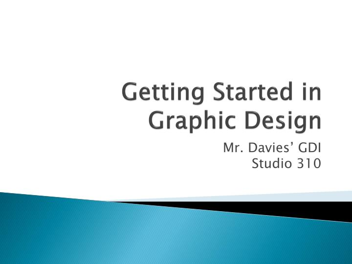 getting started in graphic design n.