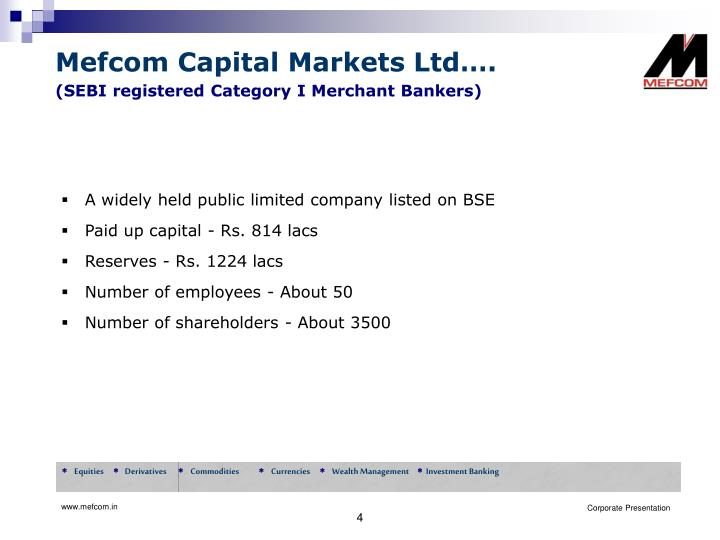 Mefcom Capital Markets Ltd….