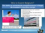 wie is essent belgium