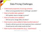 data pricing challenges