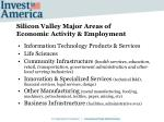 silicon valley major areas of economic activity employment
