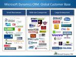 microsoft dynamics crm global customer base