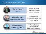 microsoft s vision for crm