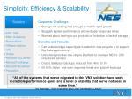 simplicity efficiency scalability
