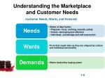 understanding the marketplace and customer needs1
