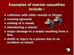 examples of marine casualties include