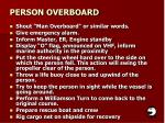 person overboard